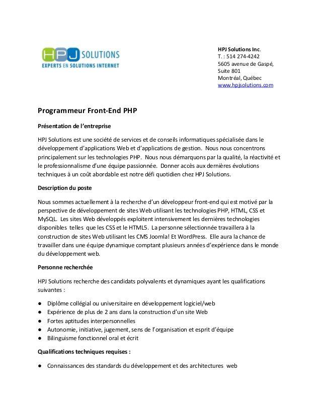 lettre de motivation stage developpeur informatique