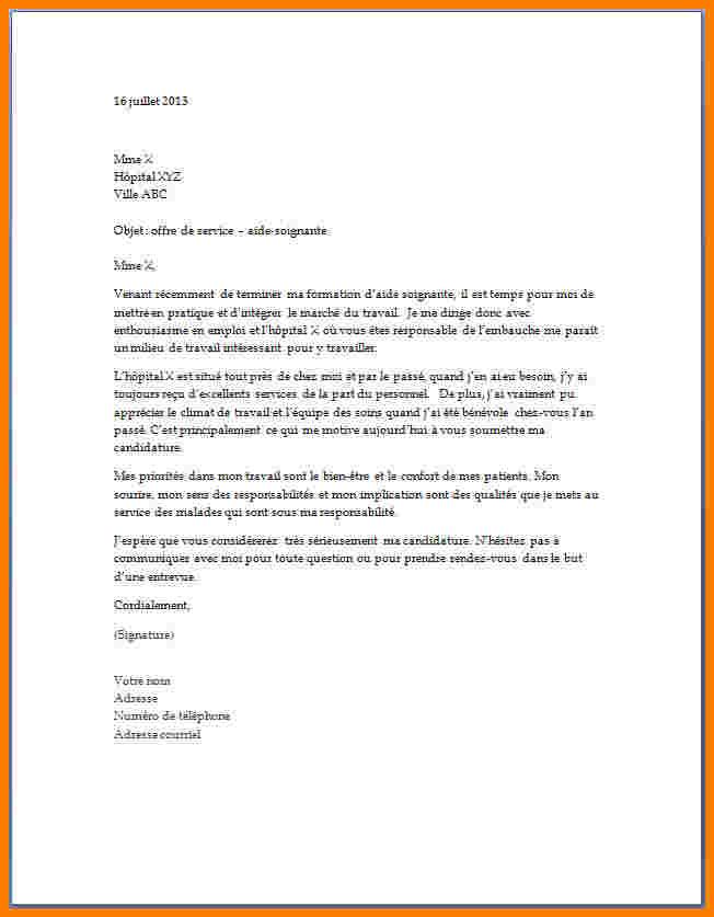 lettre de motivation pour stage 3eme