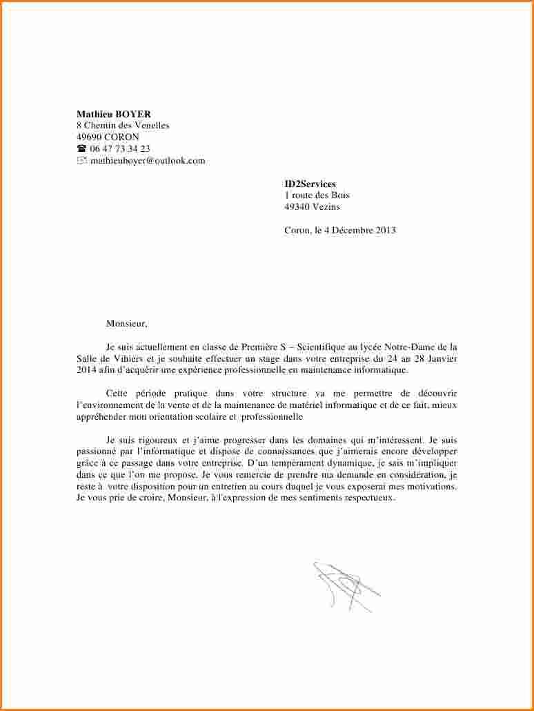 lettre de motivation pour le lyc u00e9e