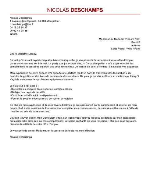 lettre de motivation en comptabilit u00e9