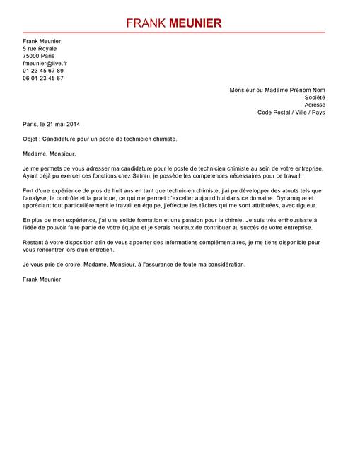 lettre de motivation technicien de maintenance confirm u00e9