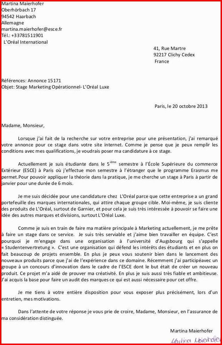 lettre de motivation commercial terrain d u00e9butant