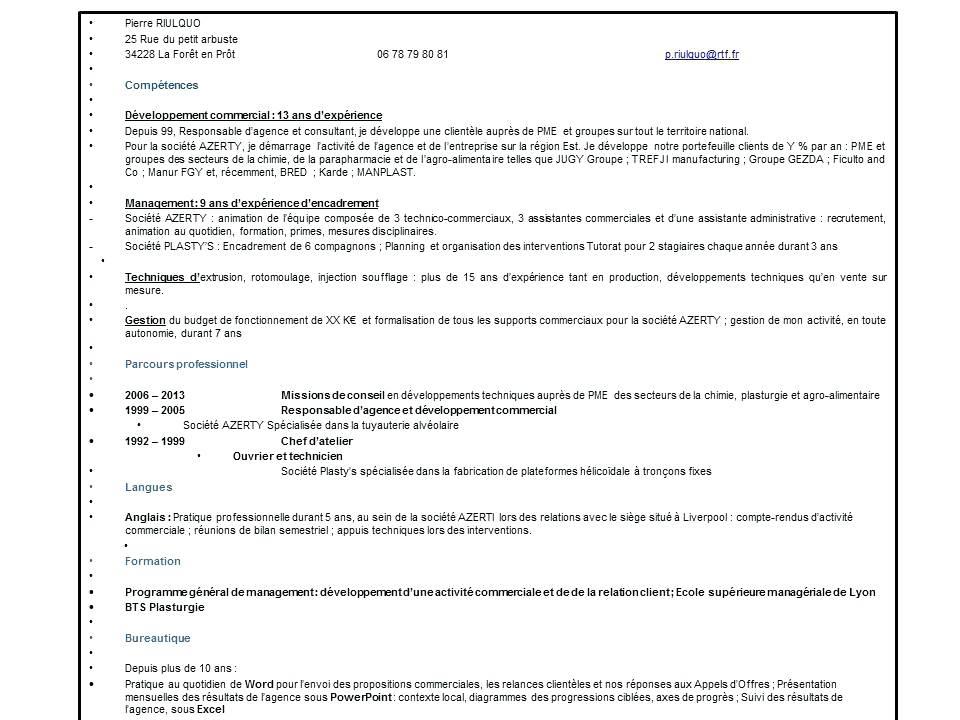 exemple de comp u00e9tences professionnelles cv