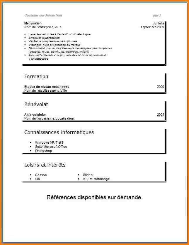 Exemple de cv etudiant 15 ans - laboite-cv.fr