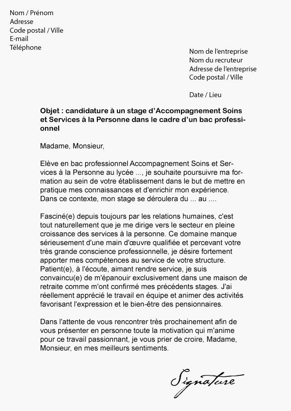 lettre de motivation cadre administratif