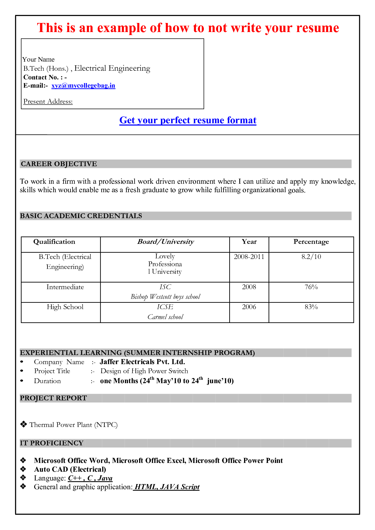 curriculum vitae 2015 download