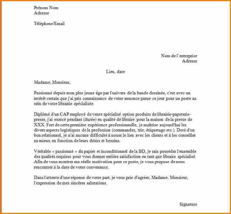 lettre de motivation pour appel d u0026 39 offre