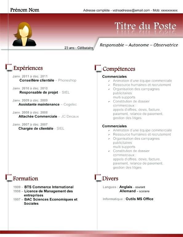 curriculum vitae assistant administratif