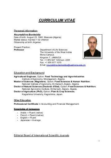 curriculum vitae publisher
