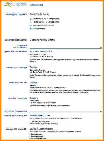 Exemple de cv europass pour etudiant - laboite-cv.fr