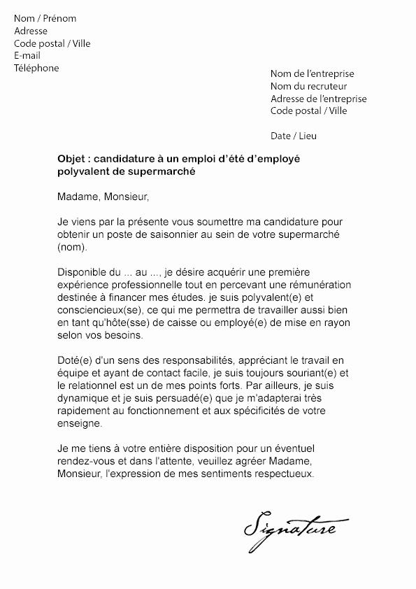 lettre de motivation job d u0026 39 ete