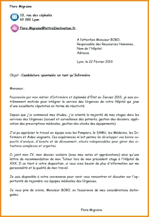 lettre de motivation infirmi u00e8re psychiatrie