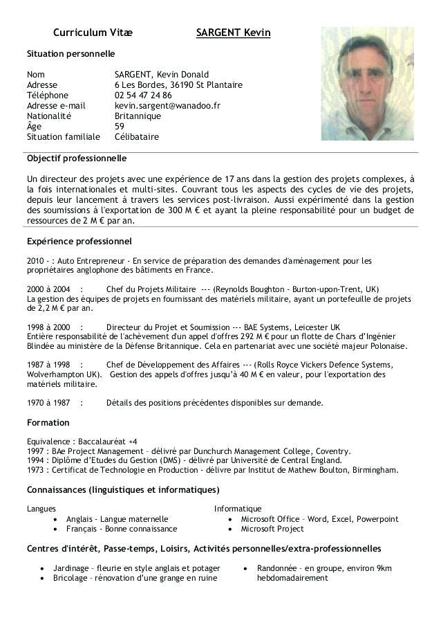 exemple de cv europass pour appel d u0026 39 offre