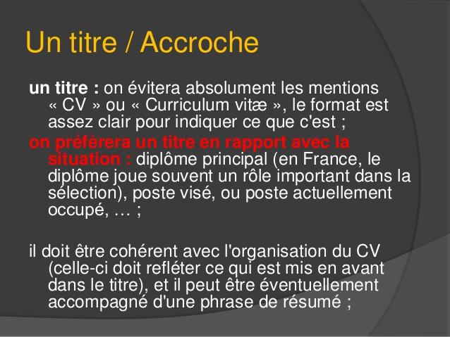 exemple de texte d u0026 39 accroche cv