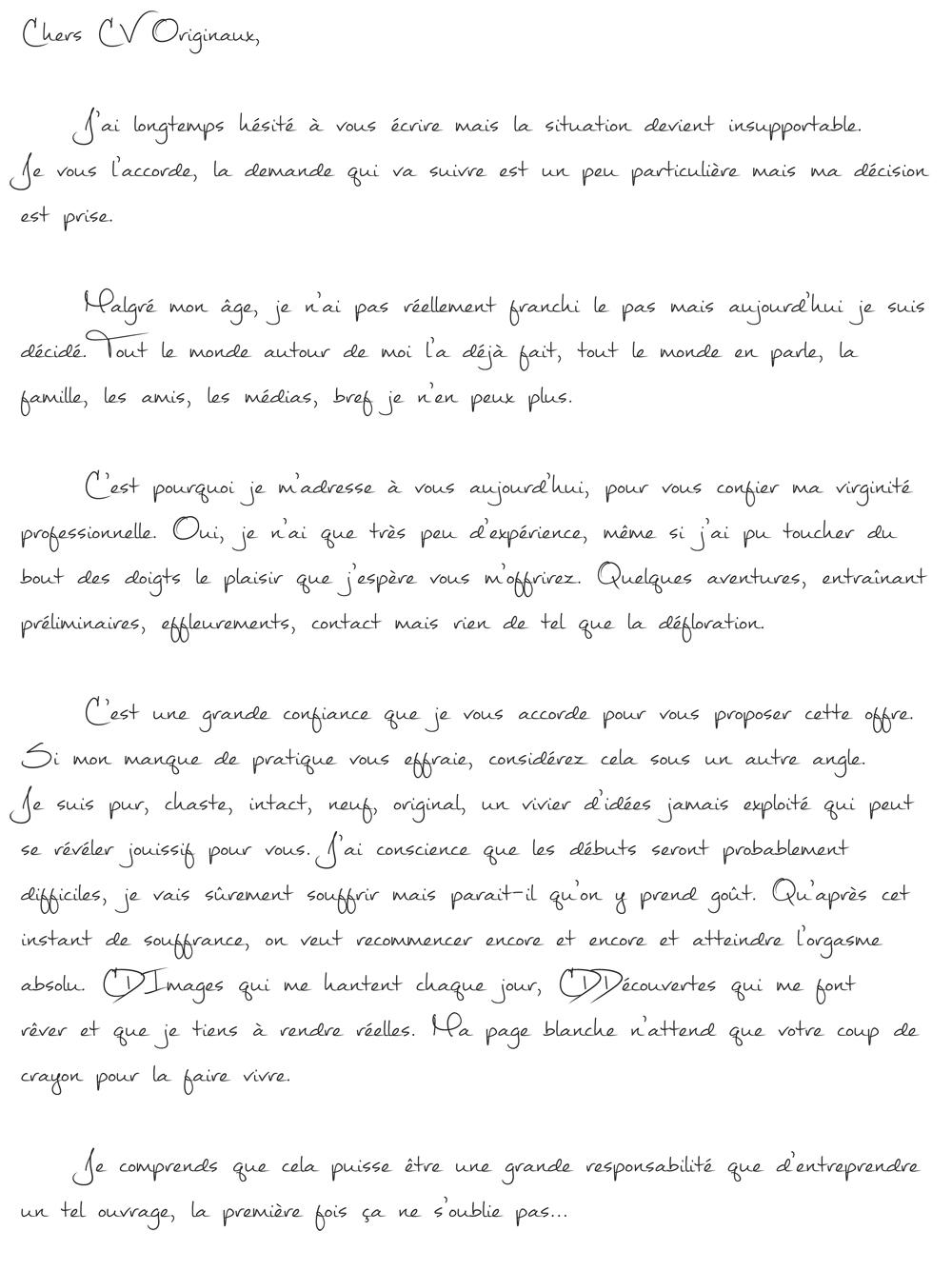 lettre de motivation freelance