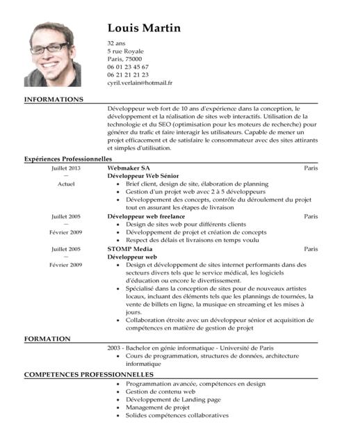 exemple de competences sur cv