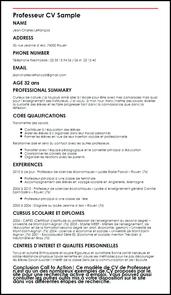 disposition curriculum vitae