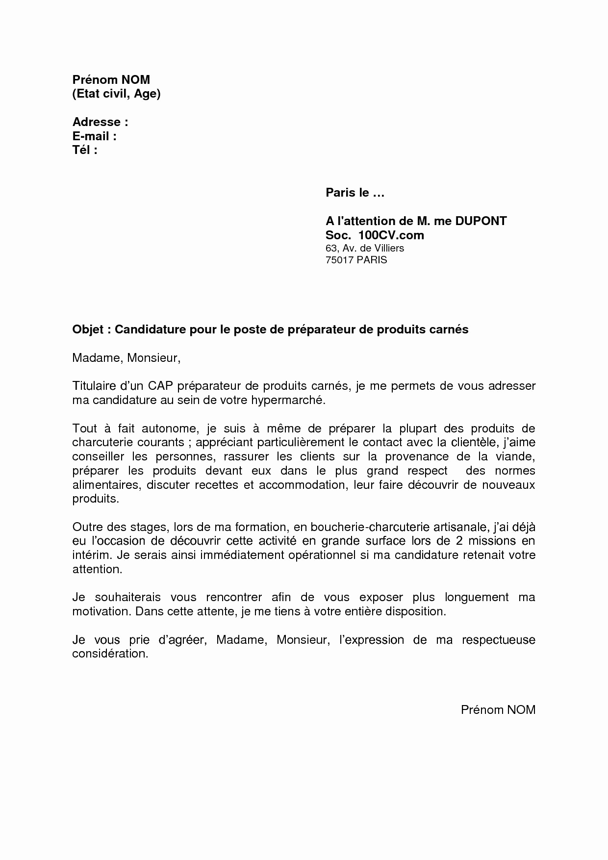 lettre de motivation bac pro assp