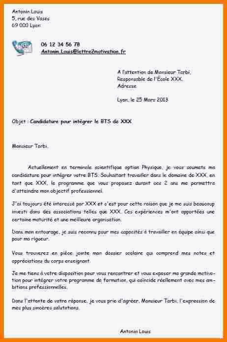 lettre de motivation dut gea option rh