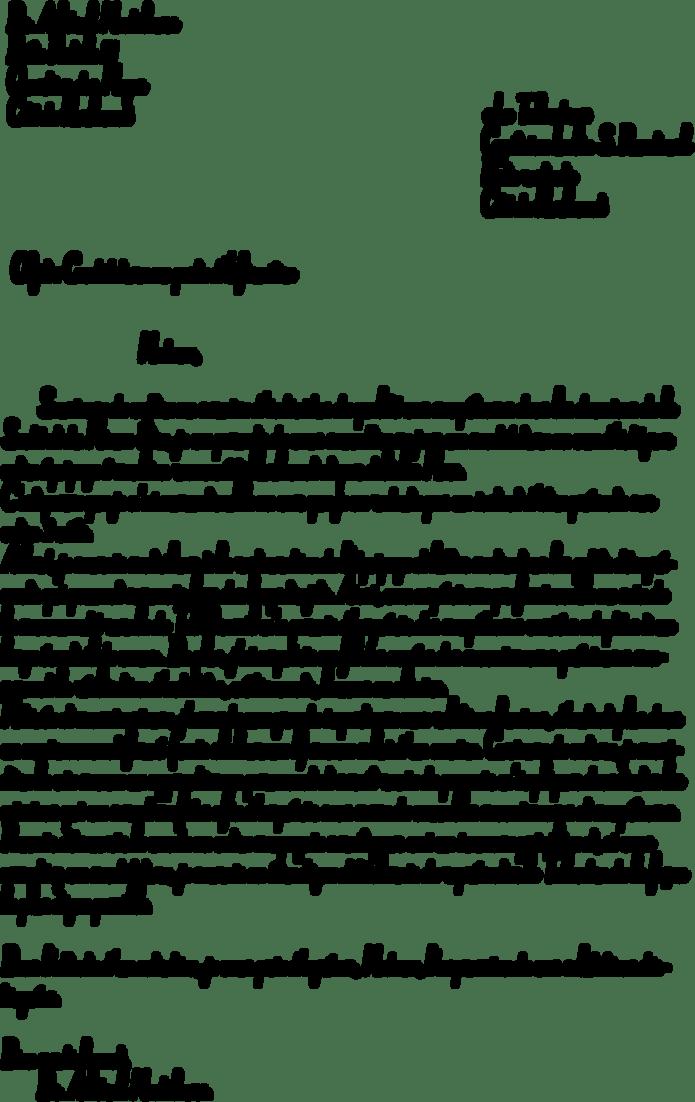 Lettre De Motivation Manuscrite Modele - House MY b