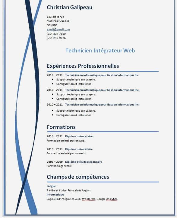 Exemple de cv pour open office laboite - Open office gratuit pour tablette ...