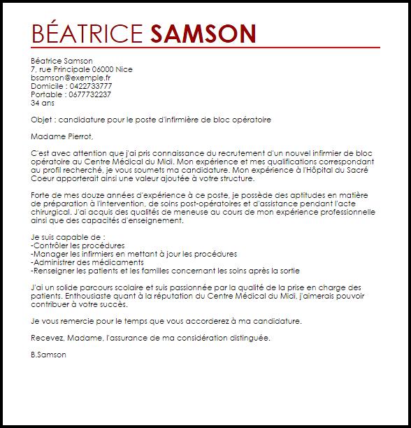 lettre de motivation infirmiere candidature spontan u00e9e