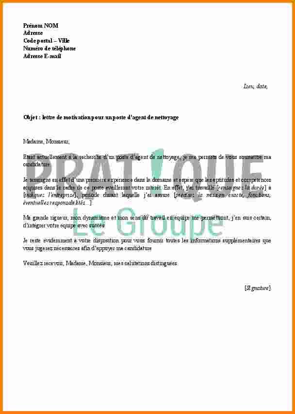 lettre de motivation agent d u0026 39 entretien d u00e9butant