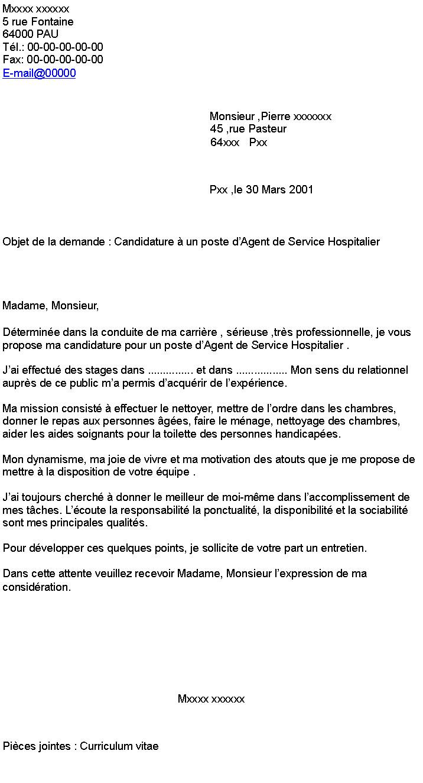 Lettre de motivation agent hospitalier - laboite-cv.fr