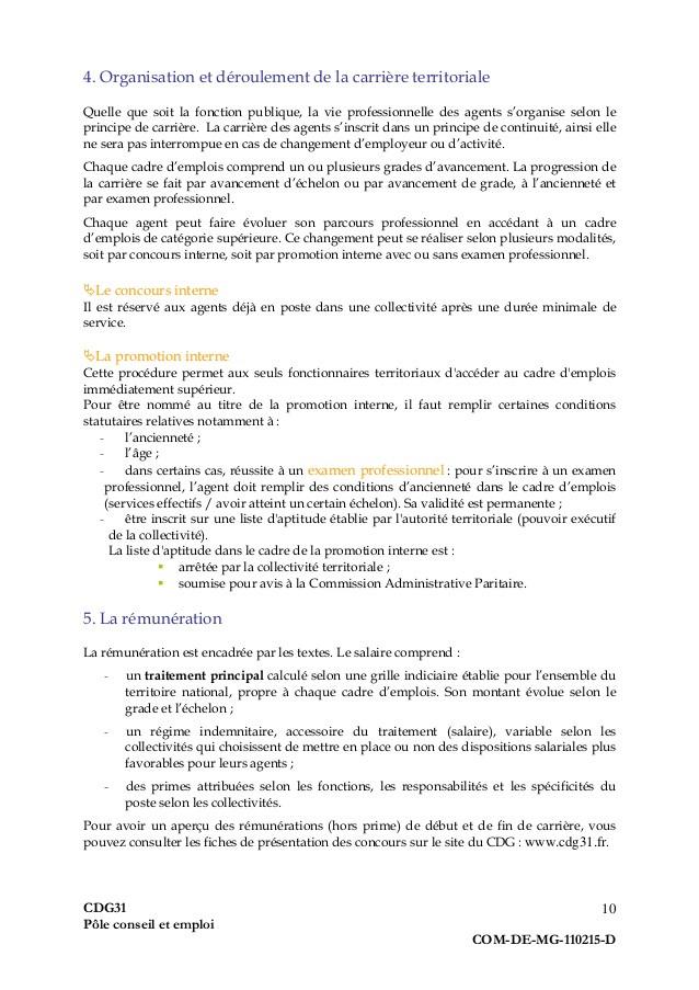 lettre de motivation agent de maitrise fonction publique