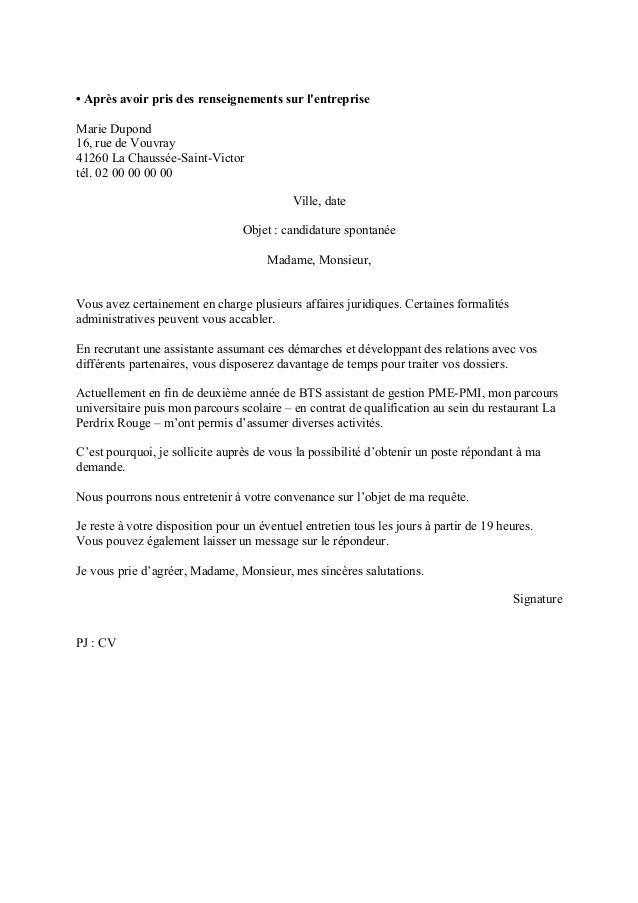 lettre de motivation pour bts gestion de la pme