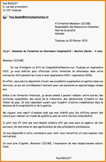 lettre de motivation alternance assistant de gestion