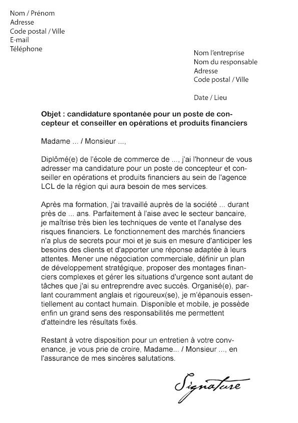 lettre de motivation bts services banque conseiller de