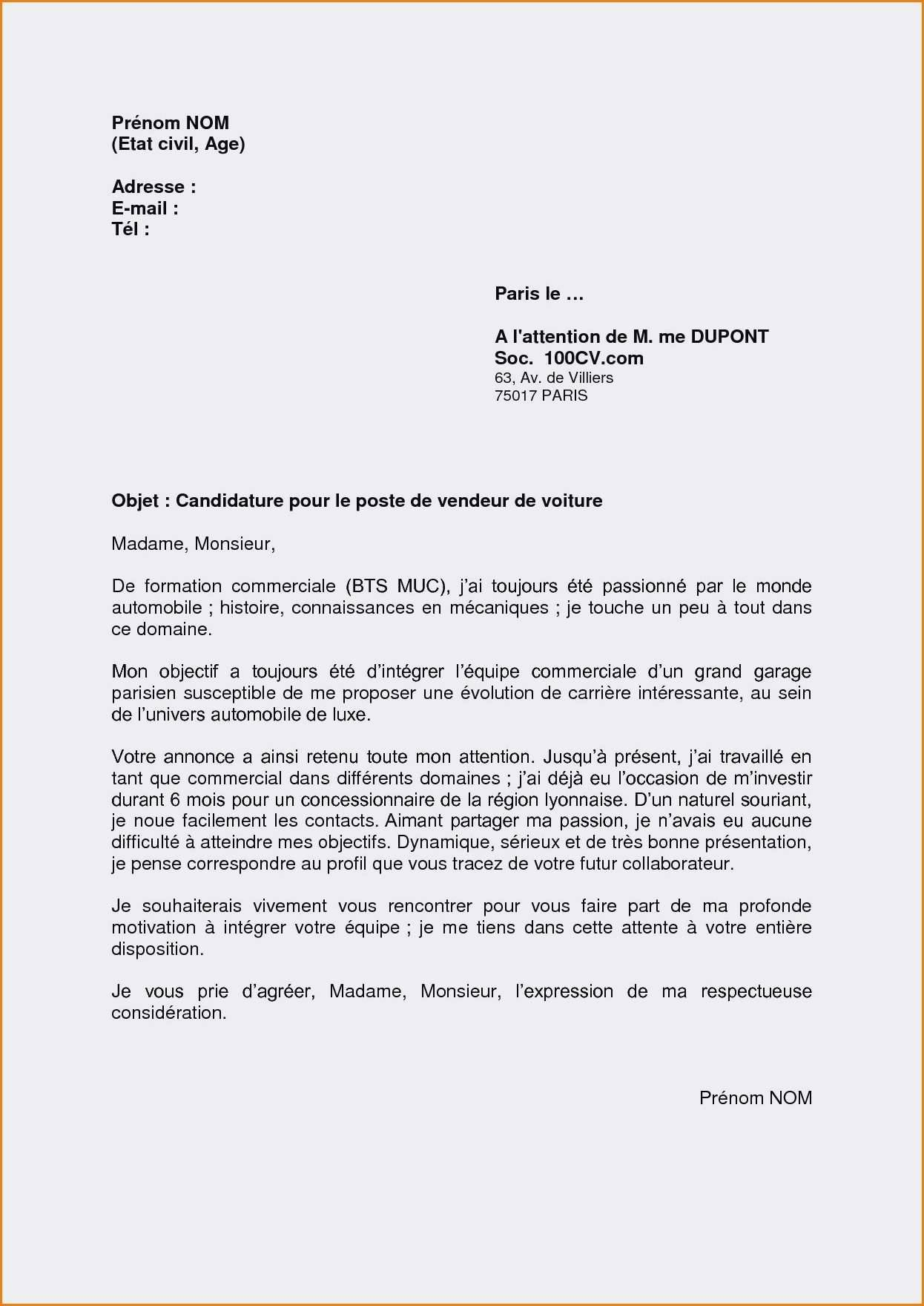 lettre de motivation electronique