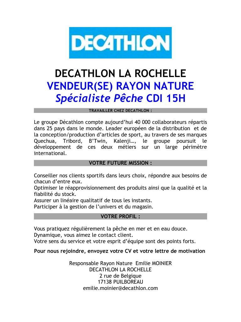 lettre de motivation vendeur sport decathlon