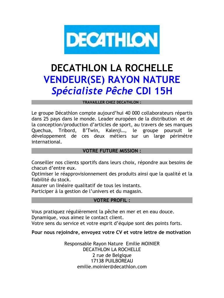 lettre de motivation vendeur sport decathlon