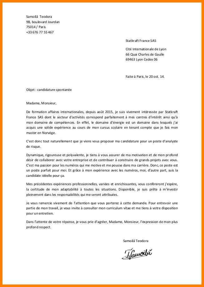 lettre de motivation candidature spontan u00e9e mairie gratuit