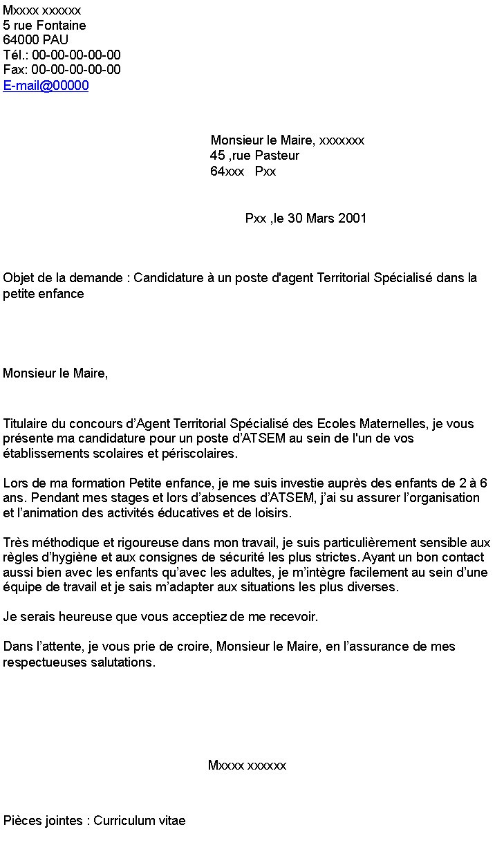 lettre de motivation stage employ u00e9 libre service