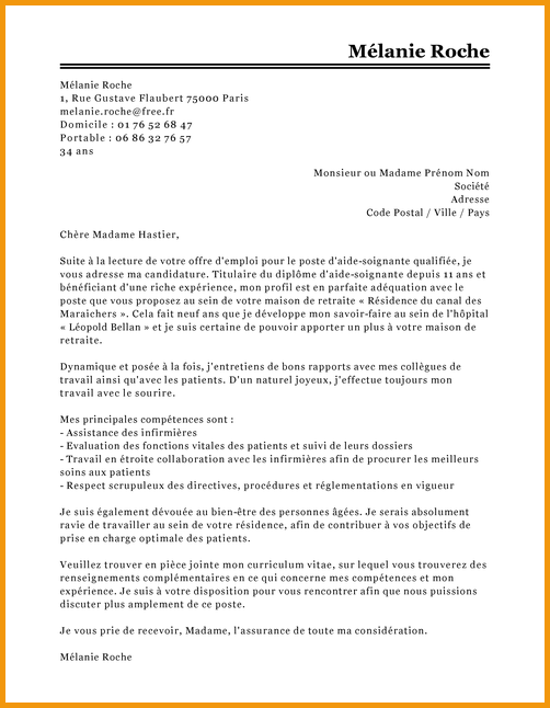lettre de motivation charg u00e9 d u0026 39 assistance