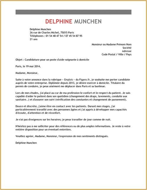 lettre de motivation chauffeur livreur candidature