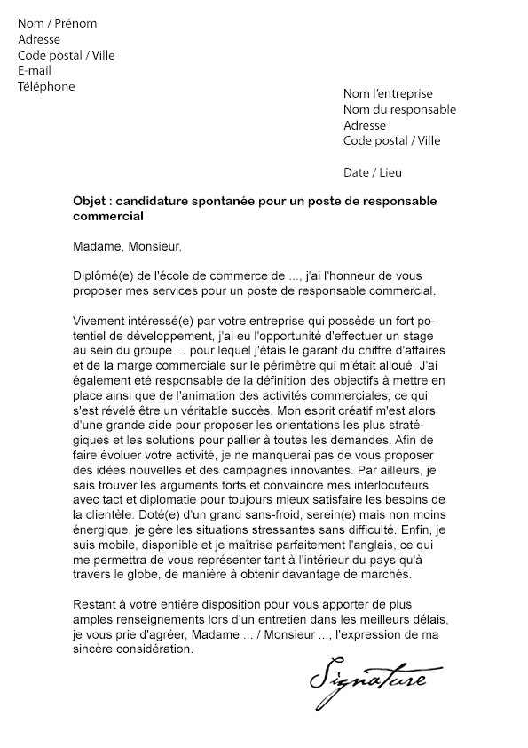 lettre de motivation commerciale s u00e9dentaire