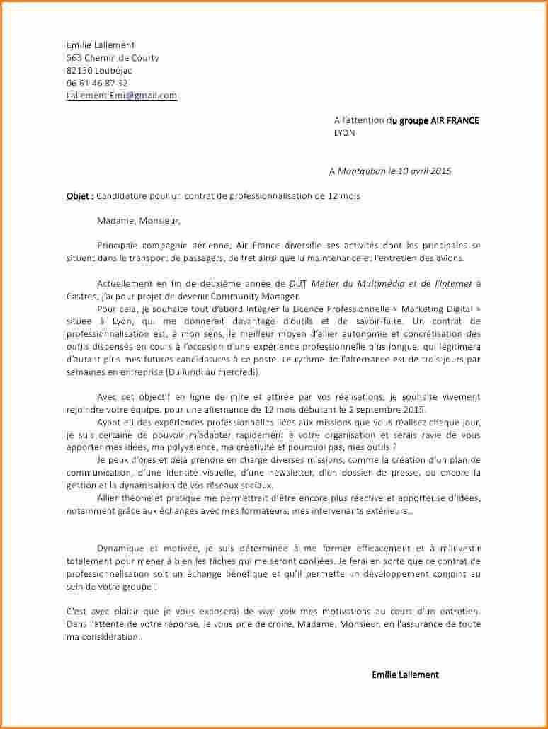 lettre de motivation contrat pro