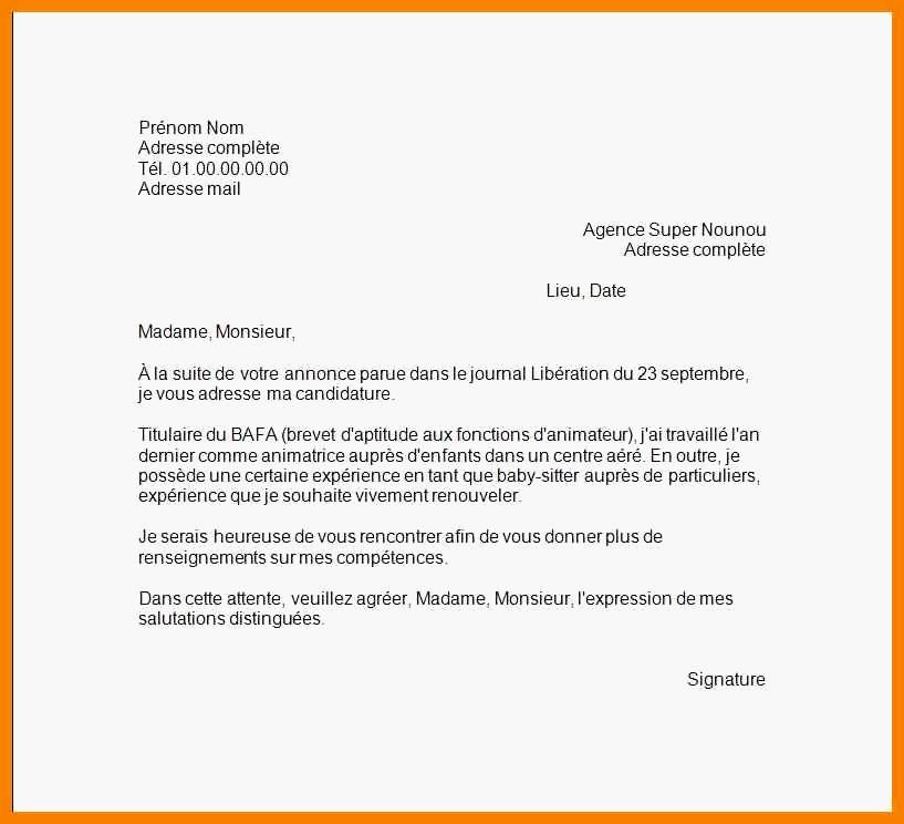 lettre de motivation animateur radio