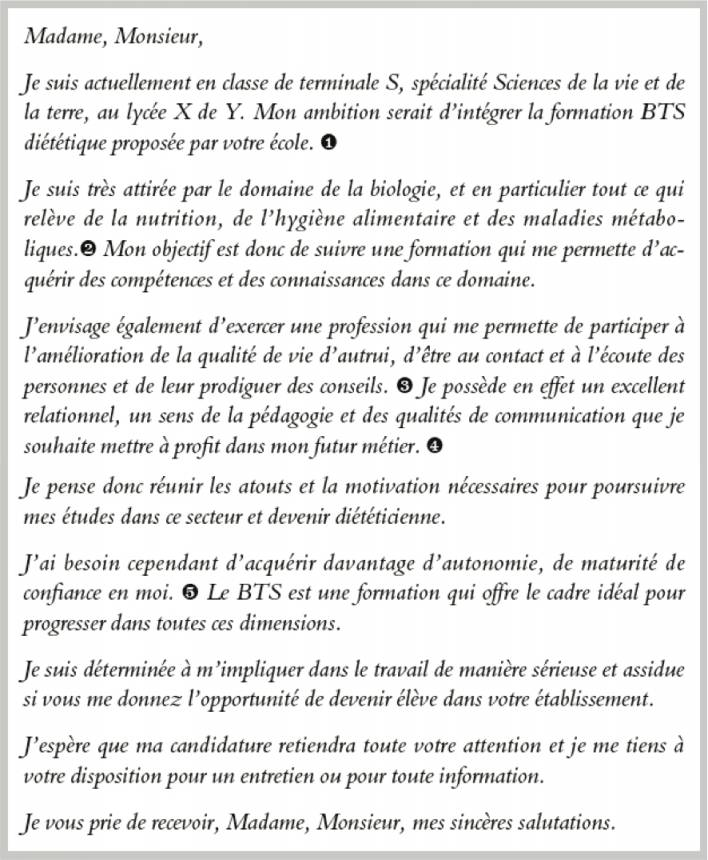 lettre de motivation  u00e9cole d u0026 39 ing u00e9nieur post bac