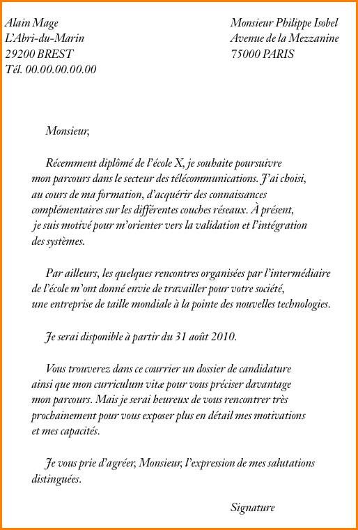 lettre de motivation  u00e9cole communication