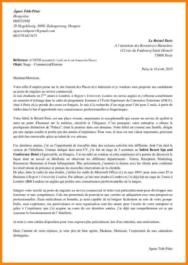 lettre de motivation candidature  u00e9cole