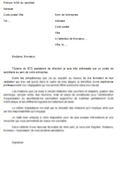 lettre de motivation formation secr u00e9taire assistant