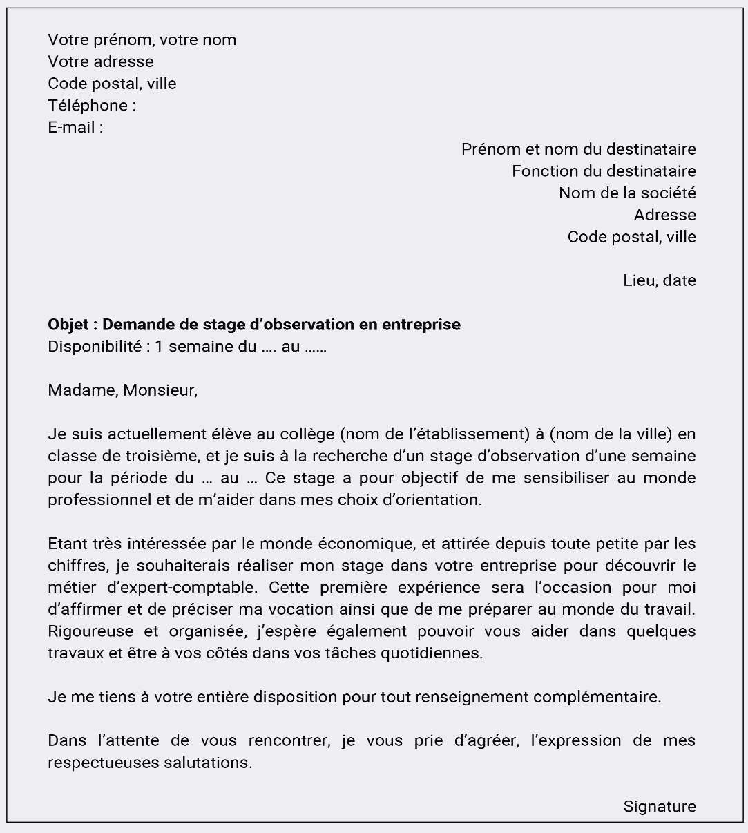lettre de motivation go sport