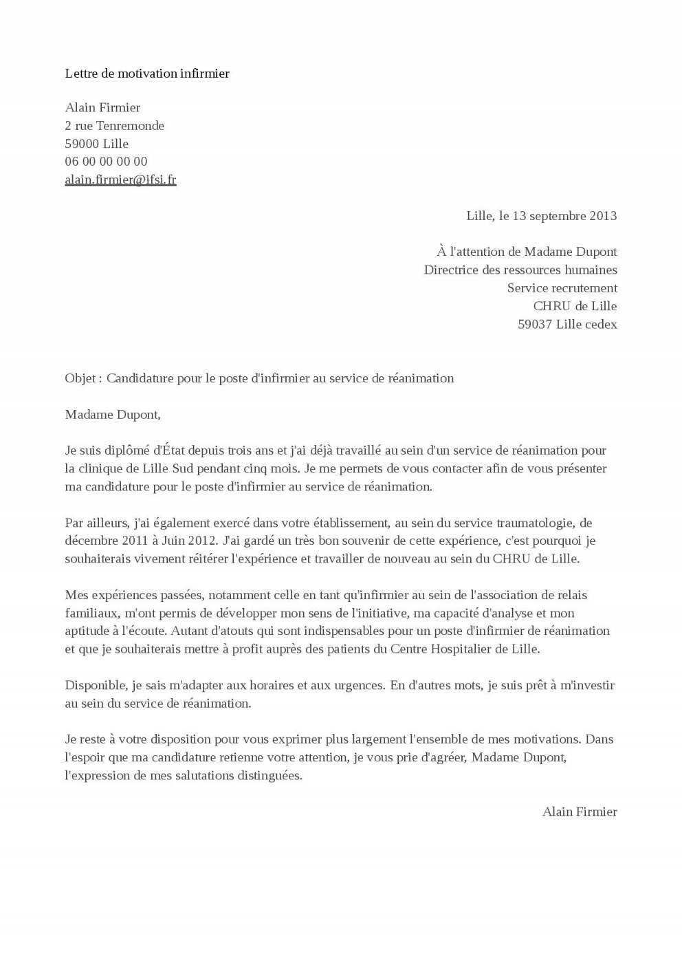 lettre de motivation deja en cdi