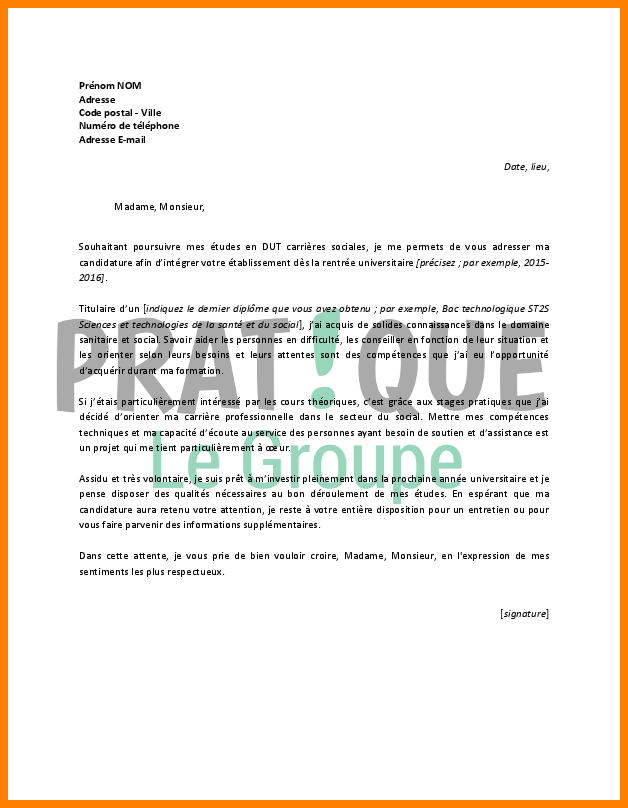 lettre de motivation dut carri u00e8re juridique