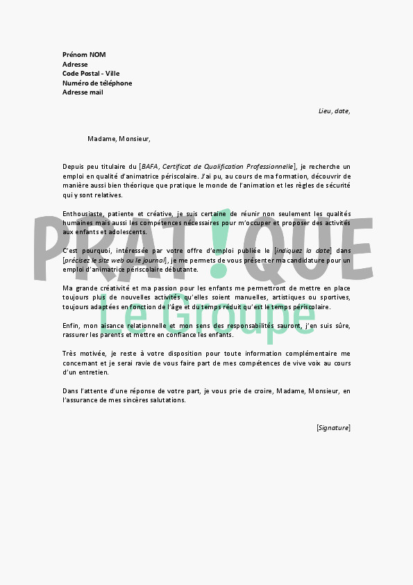lettre de motivation paysagiste en mairie